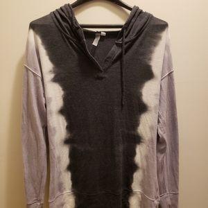 Pink Lotus Tye Dye Hooded Sweater
